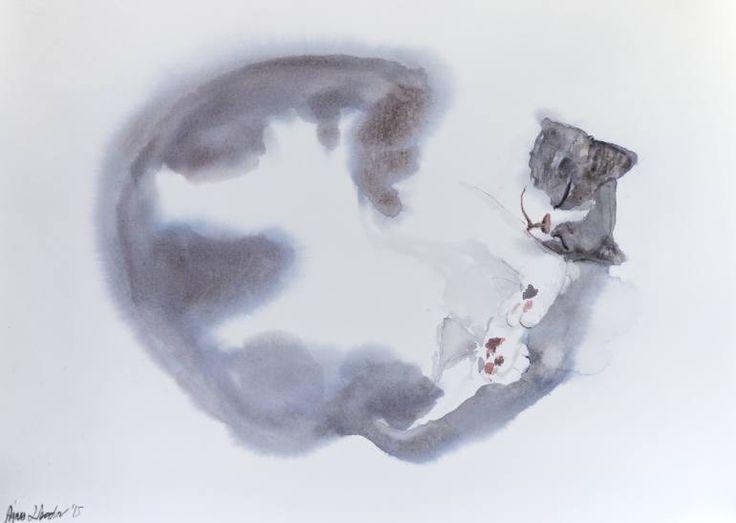 11f80c0a8b622476c03d23463f371aec--blue-cats-saatchi-art
